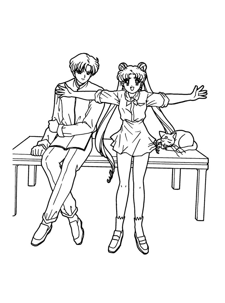 pin von michelle auf sailor moon coloring pages in 2020