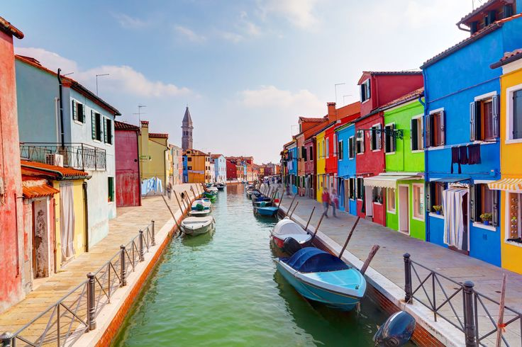 This small island 10km outside of Venice is famous for its many colourful houses and lace handicraft.