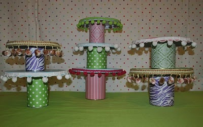 The easiest ever cake stands. Great for kids to make.