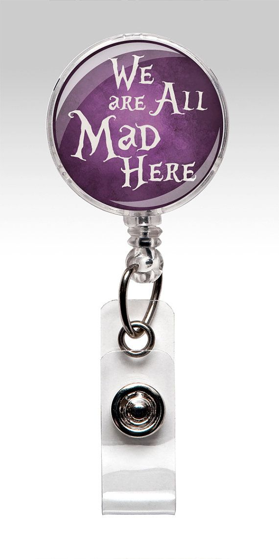 Best 25 name badges ideas on pinterest birthday badge nursing alice in wonderland retractable id badge holder purple name badge reel clips nurse badge 238 solutioingenieria Choice Image