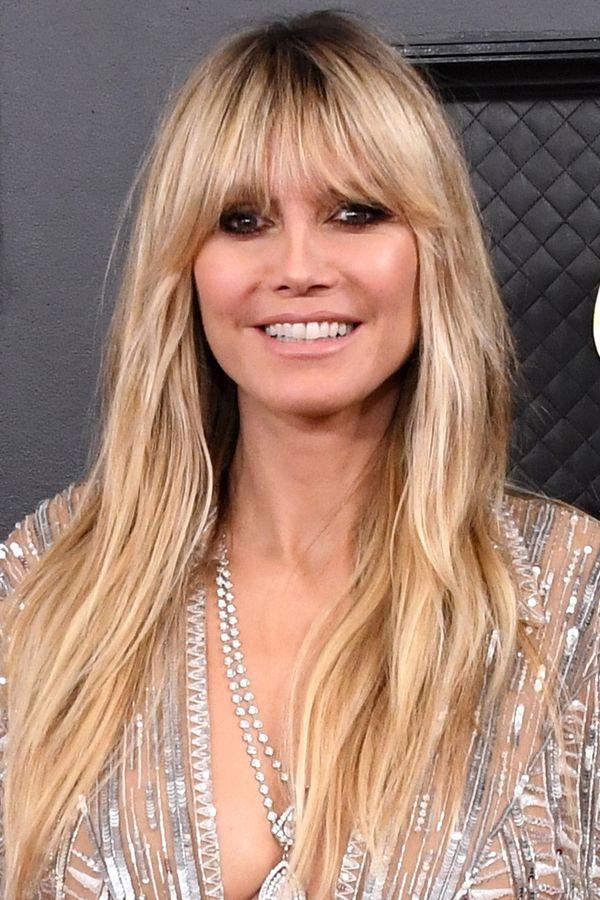 Gringe Heidi Klum Tragt Den Frisuren Trend Der Grammys Frisuren Trend Frisuren Und Klum