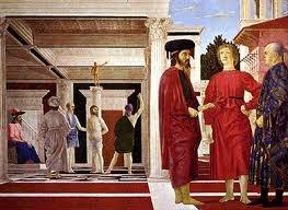 La flagelación de Cristo.  Obra realizada por Piero della Francesca en el año 1460 y perteneciente al renacimiento italiano.   Una de las obras maestras de Piero della Francesca por su admirable estudio matemático sobre la perspectiva. La geometría está implícita en toda la obra.