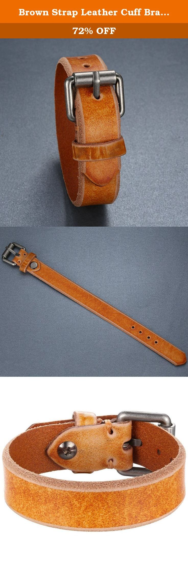Brown Strap Leather Cuff Bracelet, Ajustable, Belt Style, Unisex, llb020zo. Each leather bracelet will be unique in color. Individual characteristics of leather are exclusive to every single hide. The hideÕs final color may vary in color, tone and darkness. Over time the leather will appear rustic as the hide embraces a patina that is unique to the wearer. Daily activities including sun exposure, handling, water will aid this natural process.