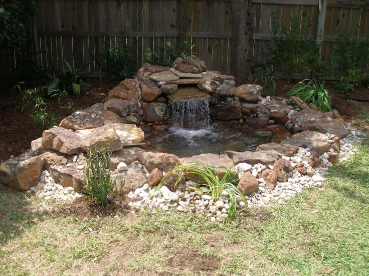 Pond with waterfall by baldigardens ponds and rivers for Do it yourself fish pond