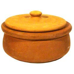 Non-Coated Earthenware Pot - Sırsız Güveç Tenceresi (Small) ,