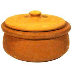 Non-Coated Earthenware Pot - Sırsız Güveç Tenceresi (Small) ,