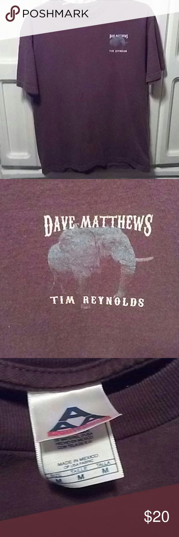 Dave Matthews. Concert shirt Dave Matthews is by far my favorite band ever. This concrt was just him and tim reynolds. They are awesome together. If you like him as much as i do, then you will want toget this shirt, also beready for yhe DMB hoodys. Dave Matthews. Band Tops Tees - Short Sleeve
