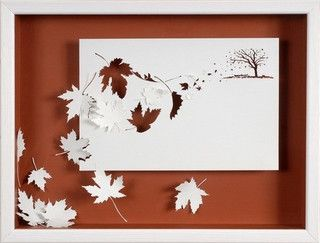 Autumn paper leaves by Peter Callesen.