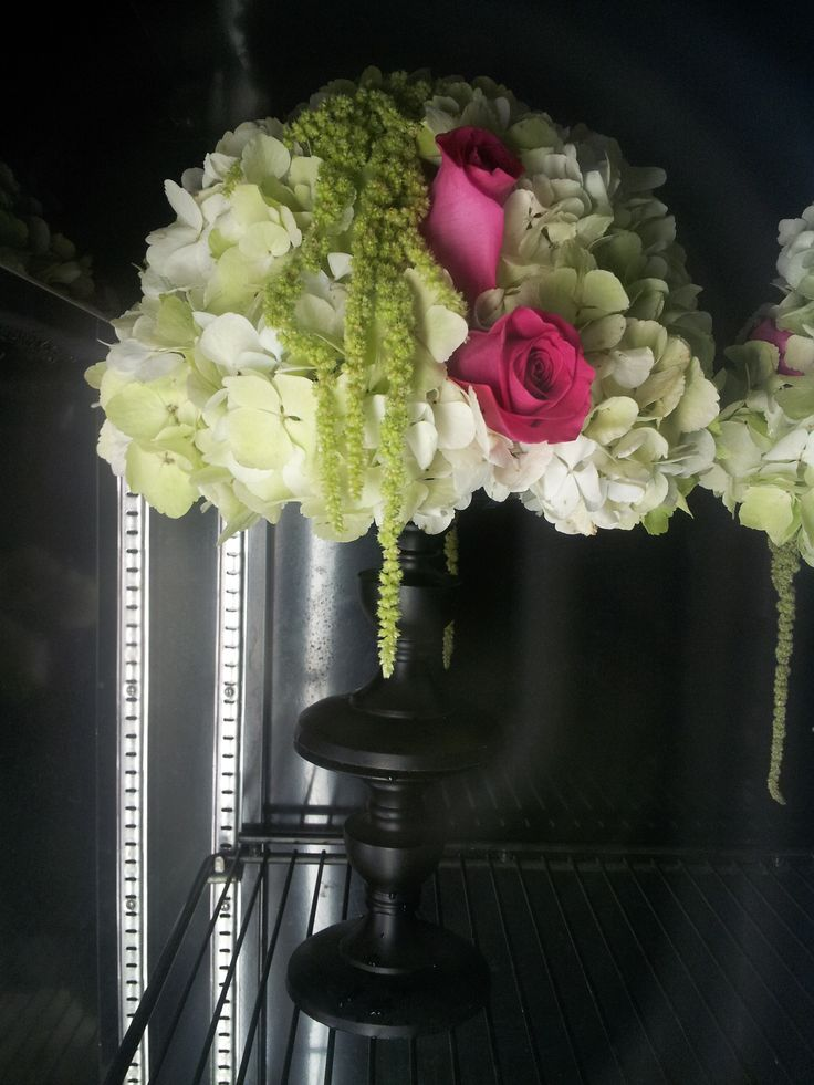 Candlestick Centerpiece #weddings #flowers #bridal