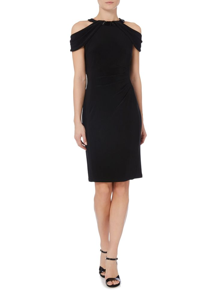 Ralph Lauren 3557 Jersey Cold Shoulder Dress. Taille 46.