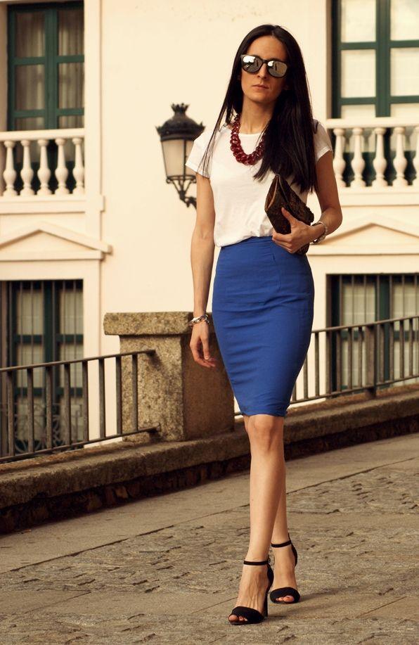 17 mejores ideas sobre ropa semi formal mujer en pinterest for Combinaciones con azul