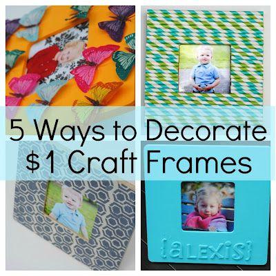 Making Lemonade: 5 Ways to Decorate a Craft Frame (Kids Craft Ideas)