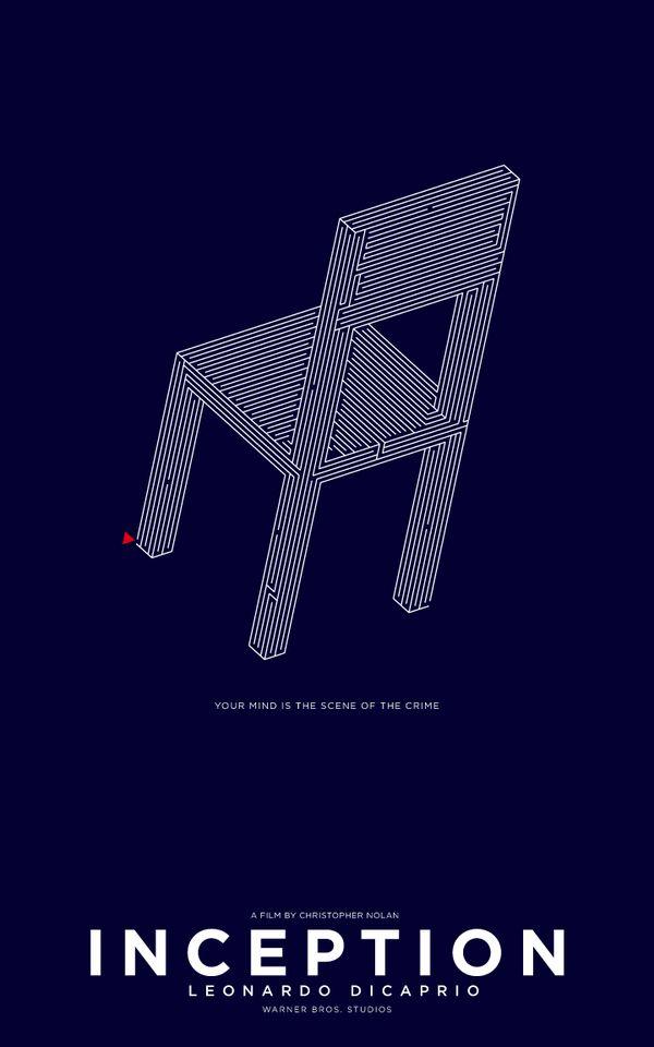 Inception (2010) ~ Minimal Movie Poster by Michael Wild #amusementphile