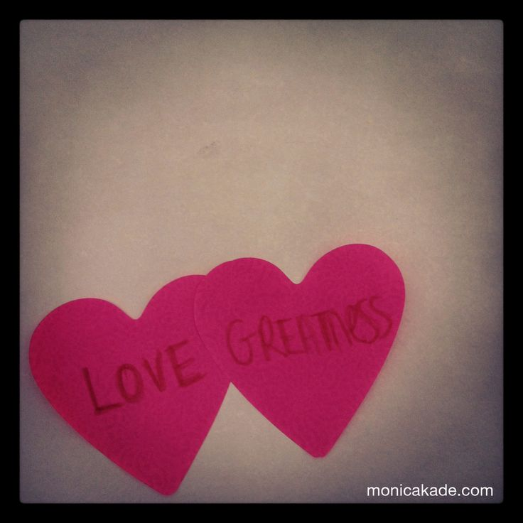 Greatness is Love. Greatness is Love.