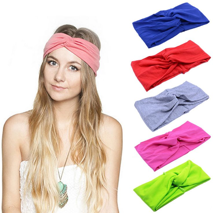 Best Turban Twist Knot Head Wrap Headband Twisted Knotted Hair Band 18 Colors #Unbranded