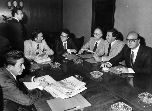 Enrico Berlinguer e Bettino Craxi foto u. Cicconi