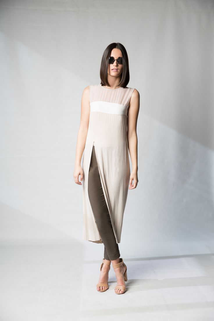 Long cream tops for wedding guests. Tops with long splits - designer fashion Jennifer Dress | For sale online and instore! Find this and more of our beautiful BLACK | Good Chemistry collection online now! (Follow the link above!) Photography; Nicole Troost