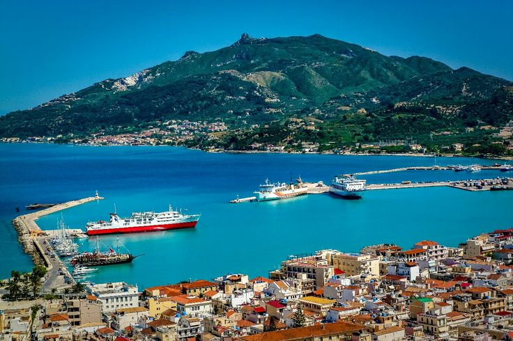 Boats in Zakynthos Port Photography by Alistair Ford