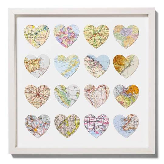 places we love or have visited: Ideas, Gift, Favorite Places, Maps, Heart Map, Cut Outs, Diy, Crafts