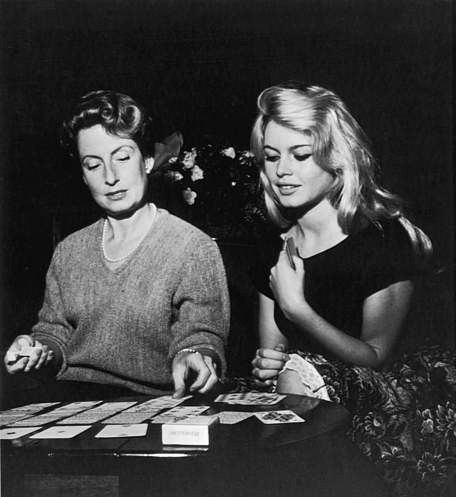 Photo of Brigitte Bardot  & her Mother  Anne Marie Mucel Bardot