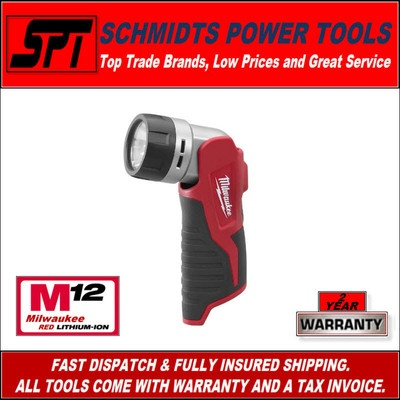 Milwaukees 12V M12 torch.  Nice and small and very bright and very very tough.
