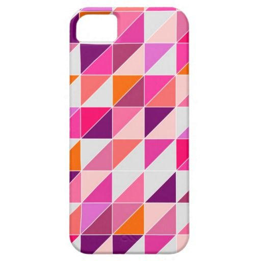 Seamless pink violet and white pattern, texture or background. Colorful geometric mosaic shapes. Hipster flat surface design triangle wallpaper with aztec chevron zigzag print iPhone 5/5S case