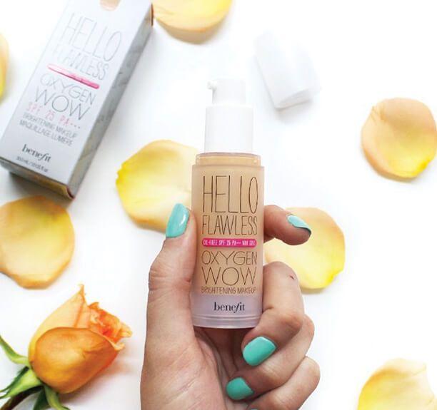 Benefit Hello Flawless Oxygen Wow! liquid foundation | makeup tutorial | makeup | beauty | summer makeup | flawless foundation | beauty guru