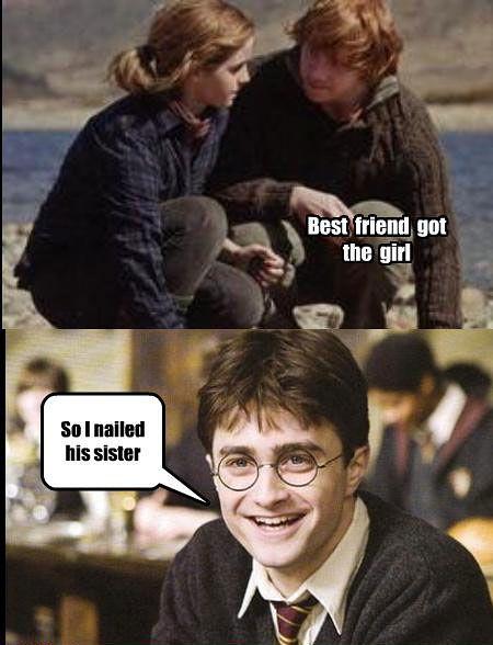 ha: Sister, Best Friends, Harrypotter, So True, Funny Stuff, Funnies, Harry Potter Humor