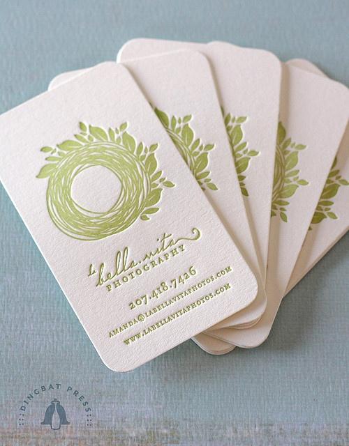 Letterpressed business cards