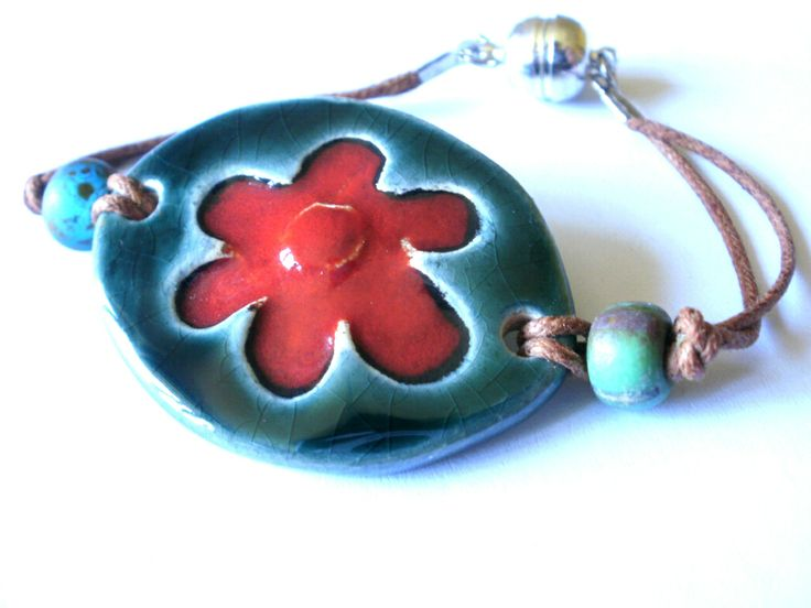 Glazed ceramics bracelet
