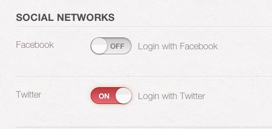 Pinterest social network - move slider and it add's the social network