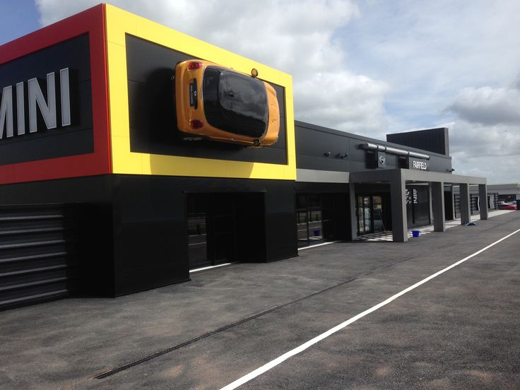 bmw mini garage; leigh-on-sea - roofing and cladding supplied