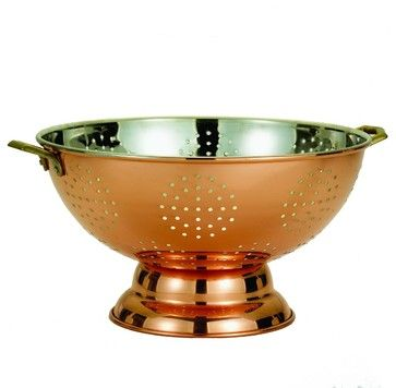 Decor Copper Footed Colander - traditional - Colanders And Strainers - Old Dutch International