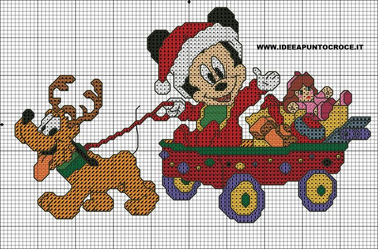 michey mouse cross stitch by syra1974.deviantart.com on @DeviantArt