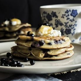 Ricotta And Blueberry Pancakes [Taste Your Life] eat365.com.au