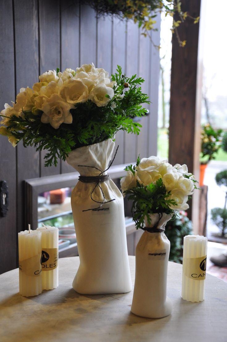 fresia in white ceramic~ beautiful flower