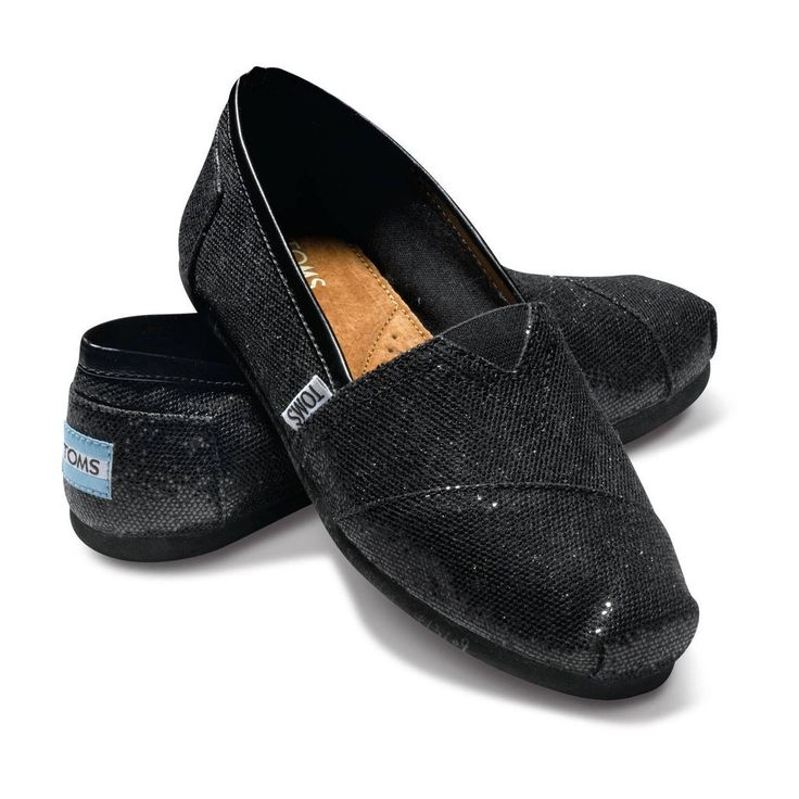 25 best ideas about black glitter toms on