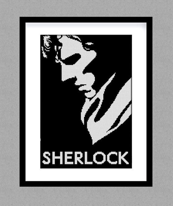 Buy 2 get 1 free. Sherlock  cross stitch pattern. от GlazovPattern