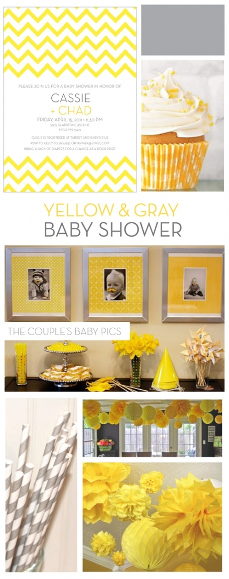 Yellow & Gray Baby Shower Mood Board