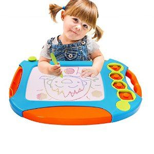 Amazon.com: Wishland Doodle Sketch Learning Toy Erasable Colorful Exact Large Magnetic Drawing Board: Toys & Games