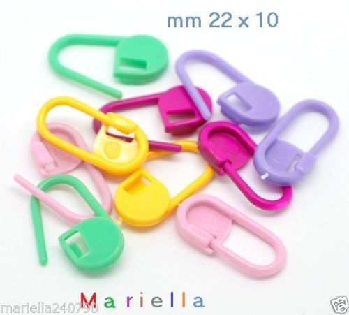 15-P-z-SPILLA-GANCIO-SEGNAPUNTO-SEGNAGIRI-Marcapunto-PER-MAGLIA-E-UNCINETTO
