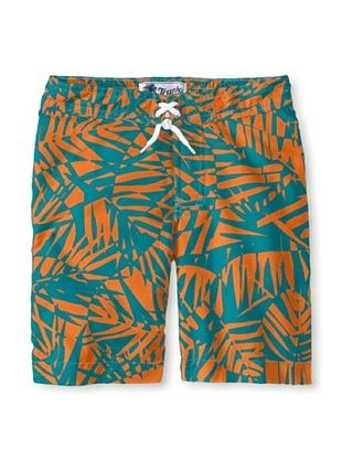 65% OFF Trunks Boy's Swami Short (Orange Palms)