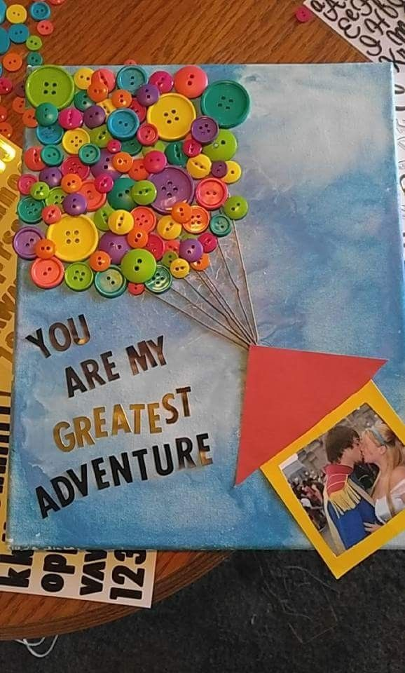 Up! themed canvas! Perfect gift for my boyfriend #Disney #Up! #crafty #DIY http://www.giftideascorner.com/birthday-gifts-ideas