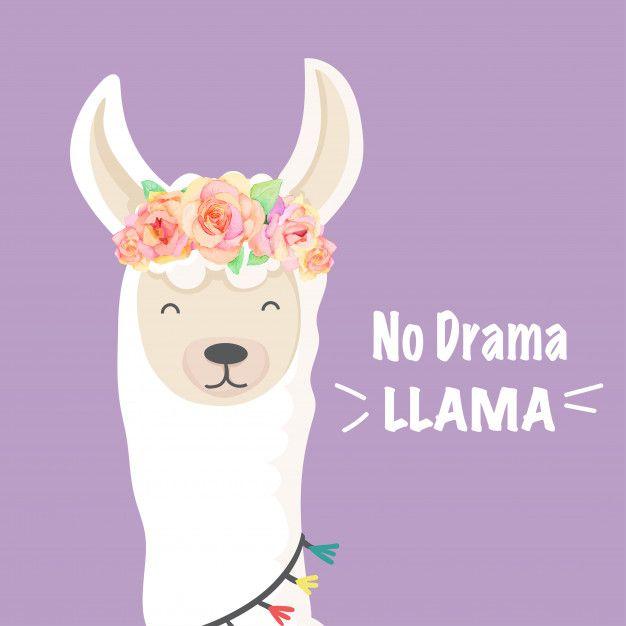 Cute Cartoon Llama Unicorn Character With Images Cartoon Llama