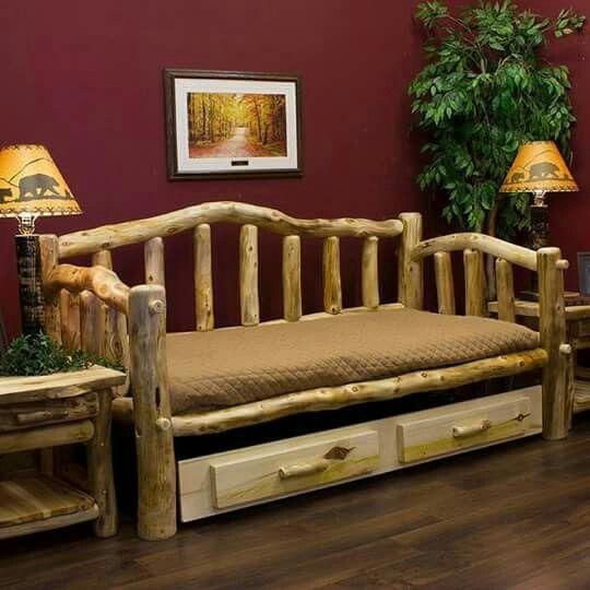 Rustic Log Furniture, Rustic Style, Guest Bedrooms, Cabin, Logs