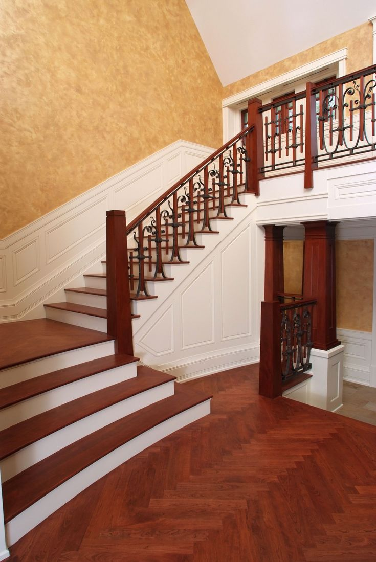 Best Wood Treads And Risers New Collection Custom Mahogany Staircase With Cherry Stair Treads And 400 x 300