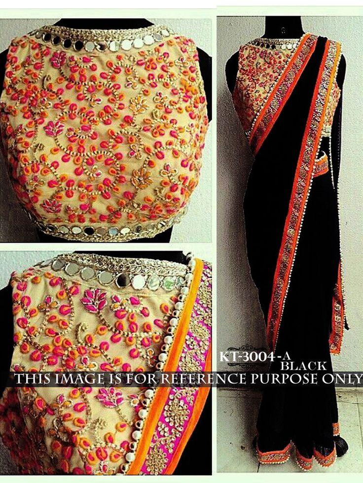 Indian Bollywood Style Heavy Wedding Beautiful Party Designer Saree Sari 3004-A