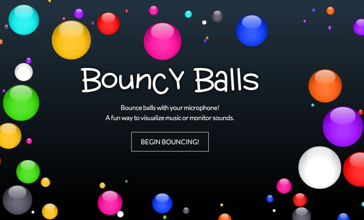 Bouncy Balls - monitor classroom noise level http://bouncyballs.org/