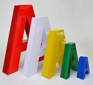 Letras 3D System Buchstabe 35cm Weiß mit LED Werbung Leuchtreklame