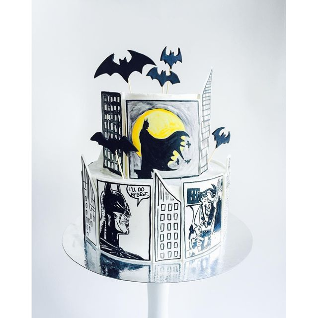 batman cake fondant decoration
